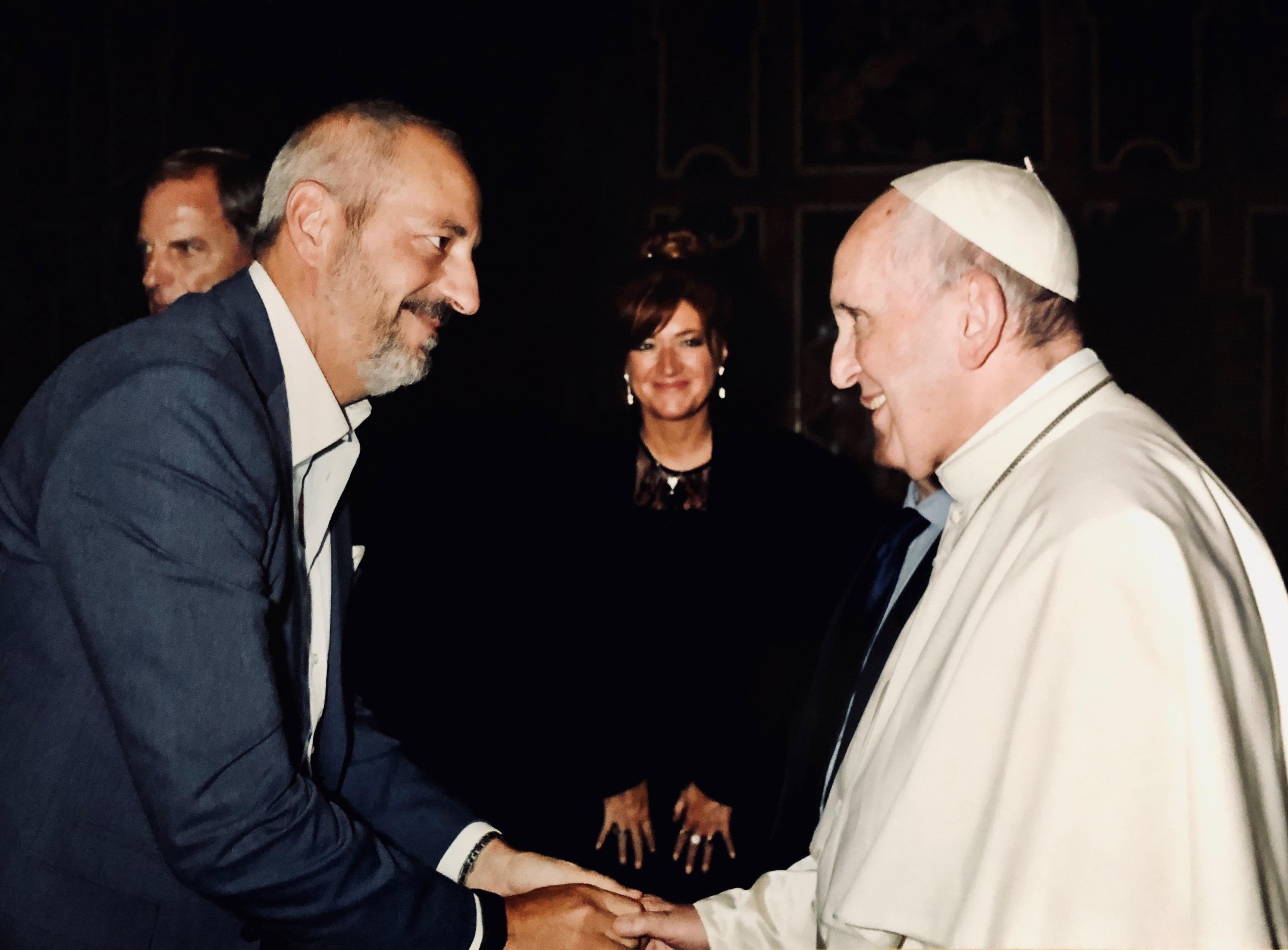 avvocato Massimiliano Gabrielli con Papa Francesco Bergoglio